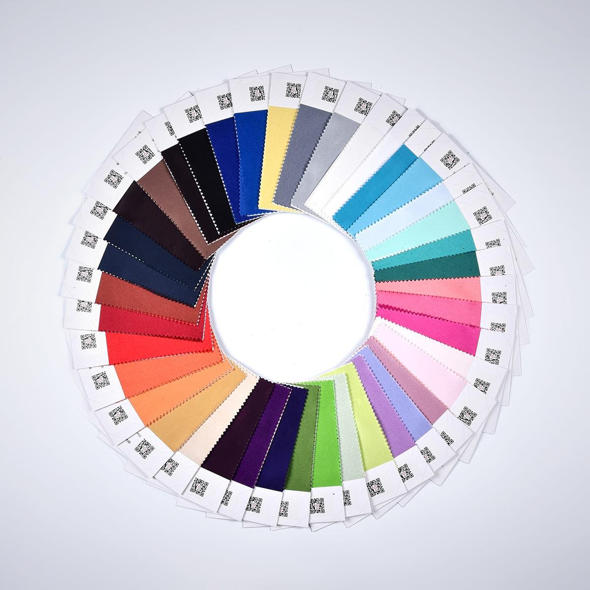 4 Kinds Of Fabrics (Satin/ Chiffon/ Taffeta/ Charmeuse) In One Piece 130Mm*180Mm
