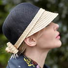 Ladies' Simple/Beautiful Linen Raffia Straw Baseball Caps With Bowknot