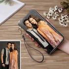 Genuine Leather Custom Personalized Double Sided Photo Women's Wallet