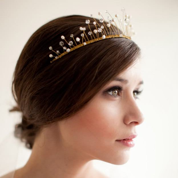 Imitation Pearls Ladies Headbands With Rhinestone