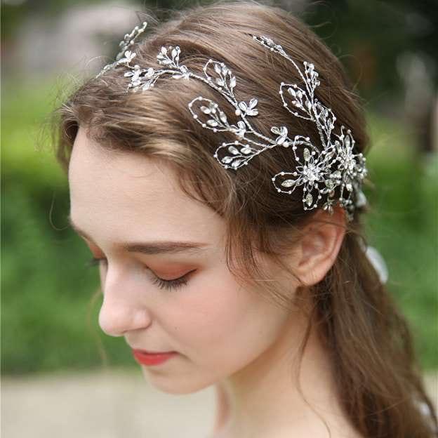 Ladies Elegant/Shining Alloy With Beads/Rhinestone/Crystal Headbands