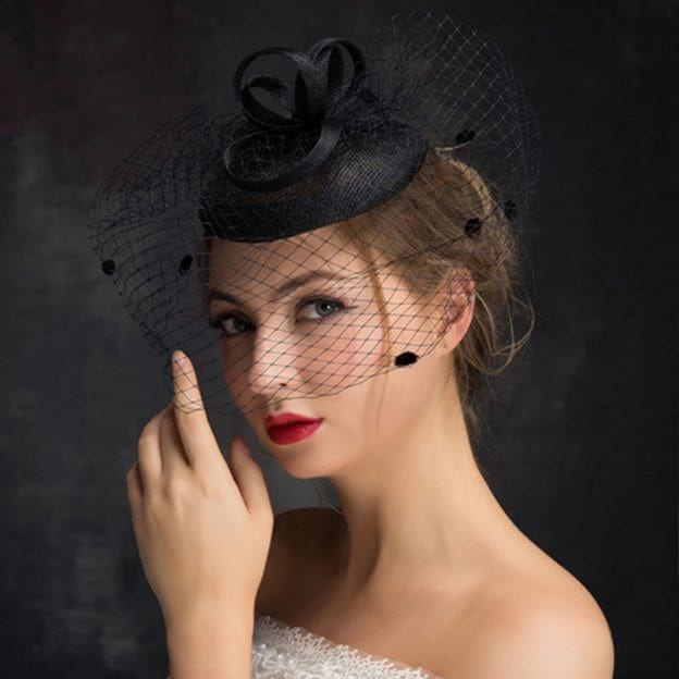 Ladies' Eye-catching/Elegant Cambric Fascinators With Feather Flower Tulle