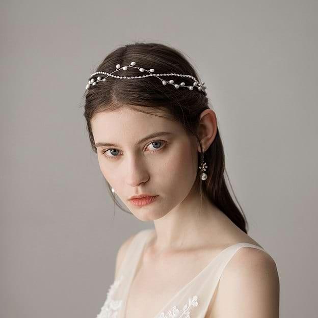 Ladies Beautiful/Elegant Imitation Pearls With Venetian Pearl Headbands (Sold in single piece)