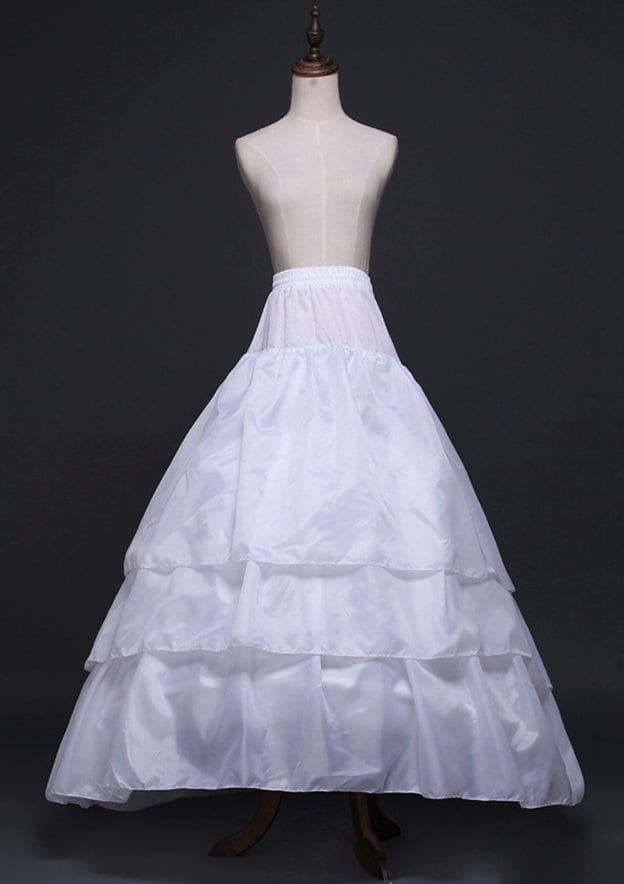 Girl Polyester Long/Floor-length 3 Tiers Bridal Petticoats