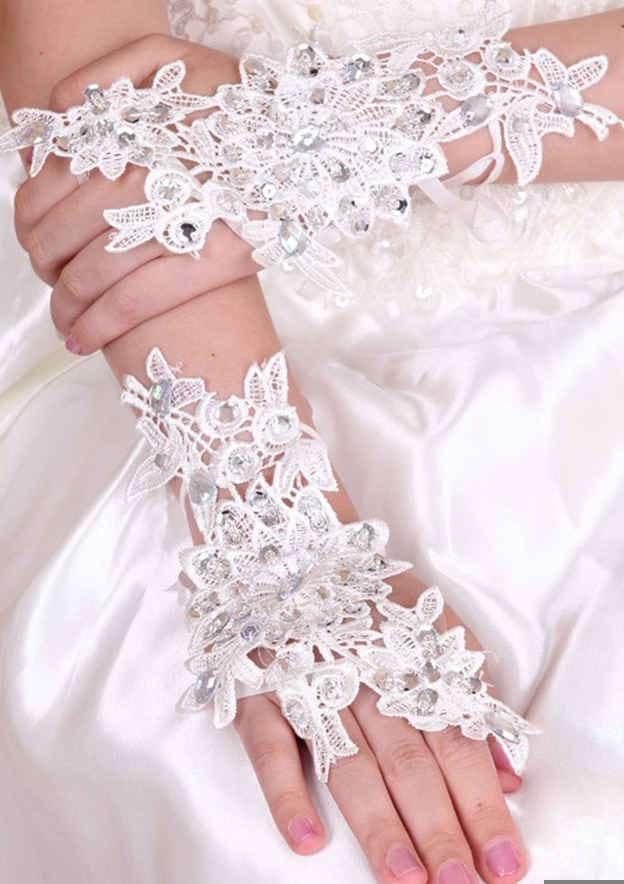 Lace Wrist Length Bridal Gloves