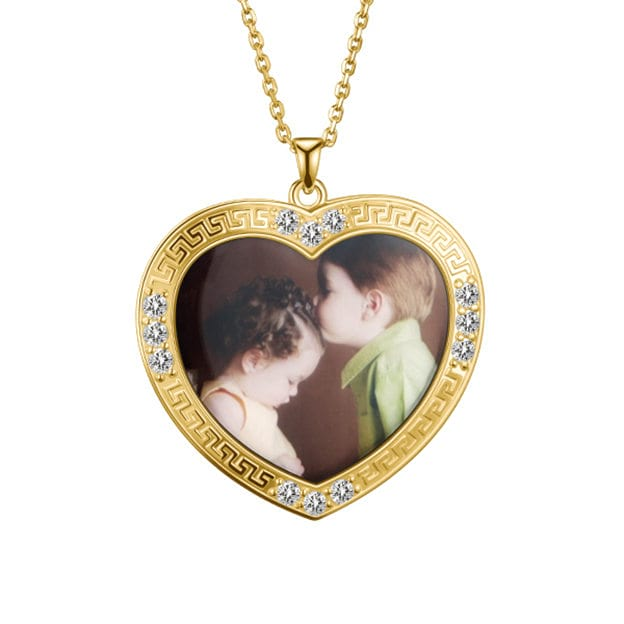 Personalized Customized Photo Heart Necklaces