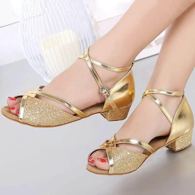Women's/Girl's Leather With Buckle Heels/Peep Toe Dance Shoes