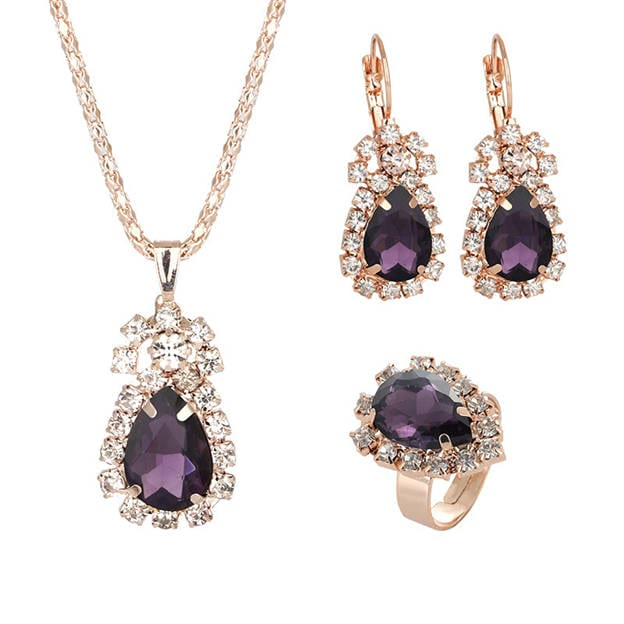 Women's Attractive Alloy Jewelry Sets With Crystal For Bride
