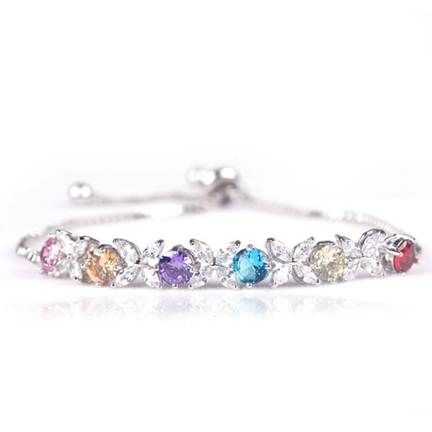 Women's Attractive Silver Copper Bracelets With Cubic Zirconia