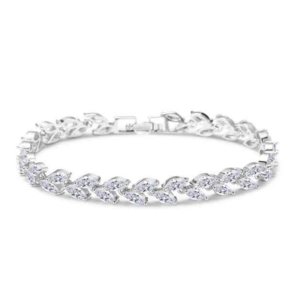 Women's Charming Silver Bracelets With Rhinestone For Bride