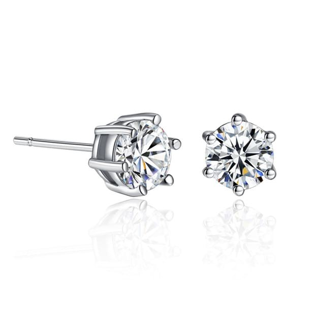 Women's Beautiful Silver Earrings With Cubic Zirconia