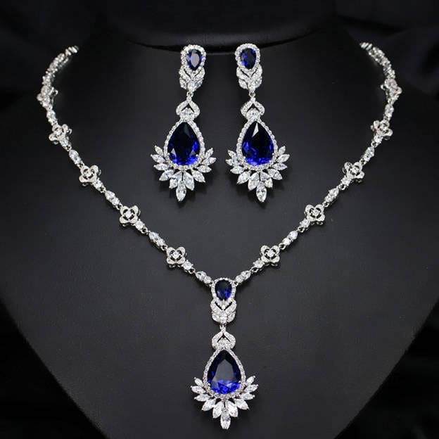 Women's Charming Silver Jewelry Sets With Cubic Zirconia
