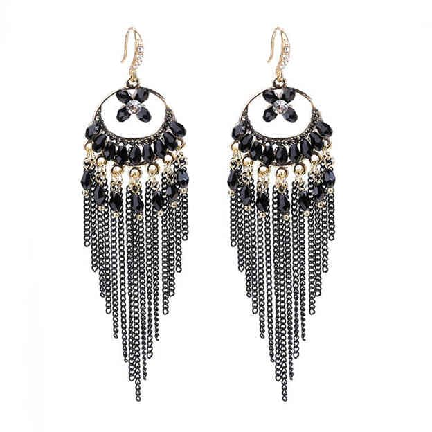 Women's Fashionable Silver Earrings With Rhinestone