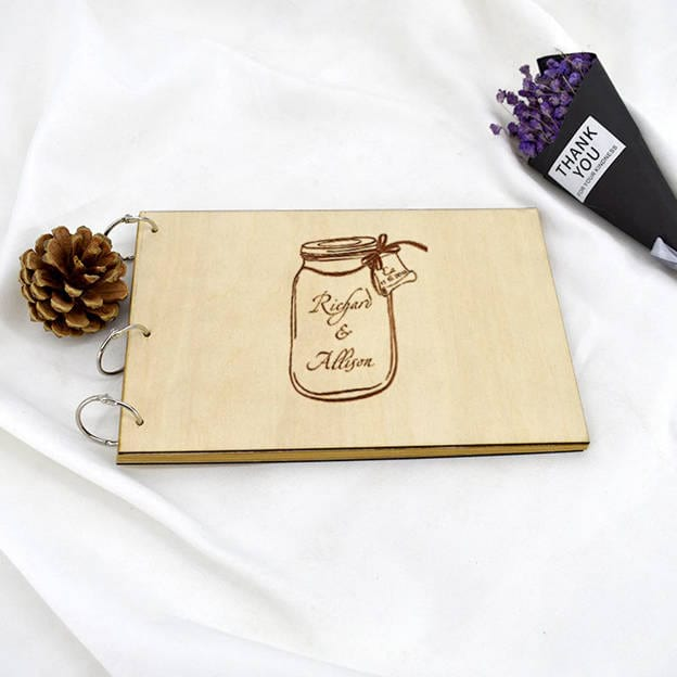 Personalized Wood Guestbook