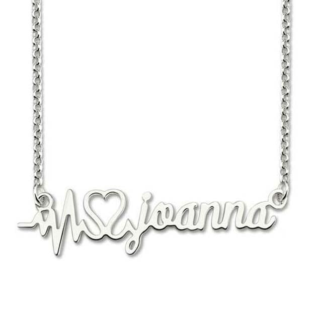 Personalized Infinity Name Sterling Silver Necklaces DIY Jewelry with Heart