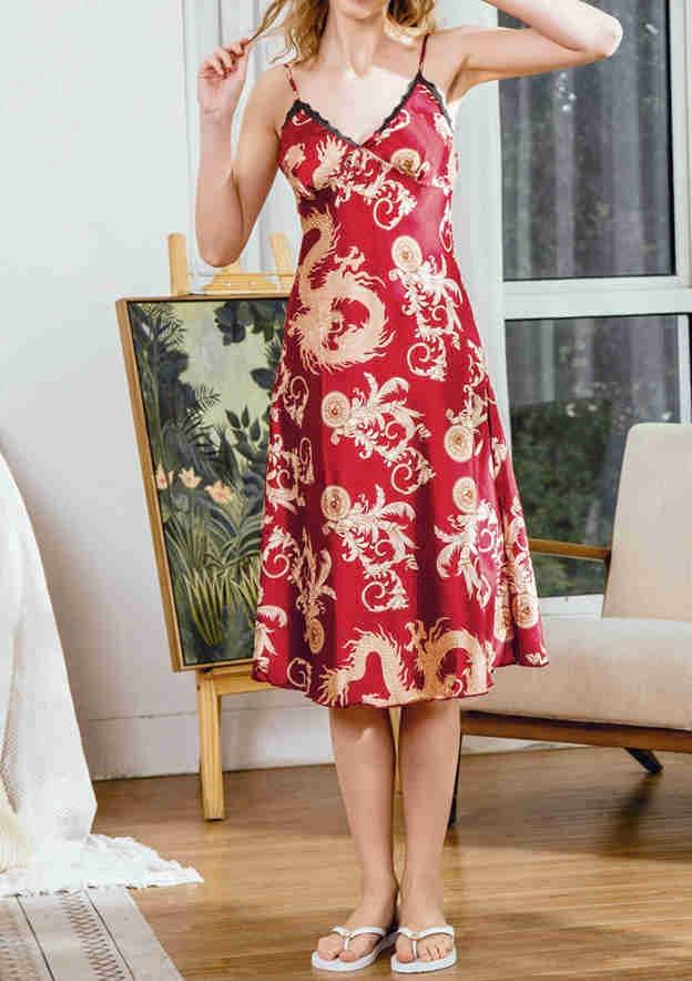 Elegant Charmeuse Her Knee-Length Sleepwear