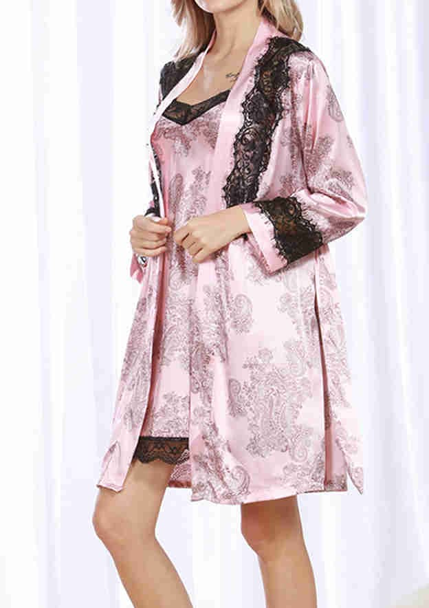 Attractive Charmeuse Her Short Sleepwear Sets