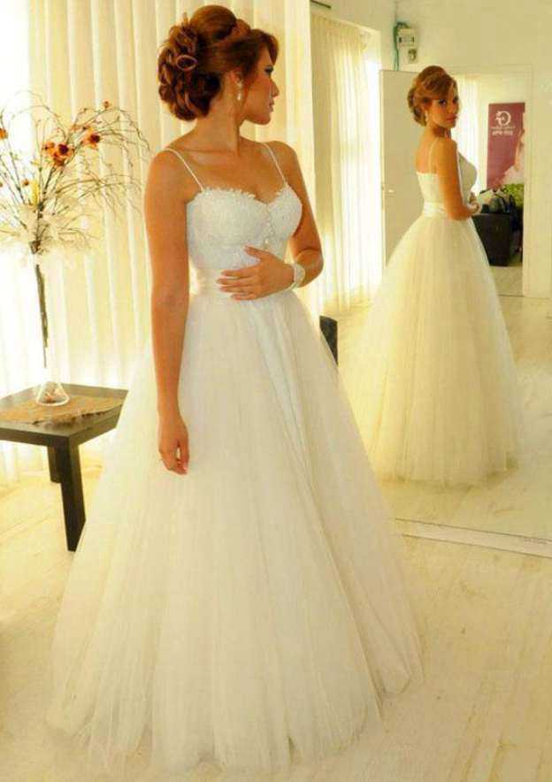 Ball Gown Sweetheart Sleeveless Long/Floor-Length Tulle Wedding Dress With Beading Lace Sashes