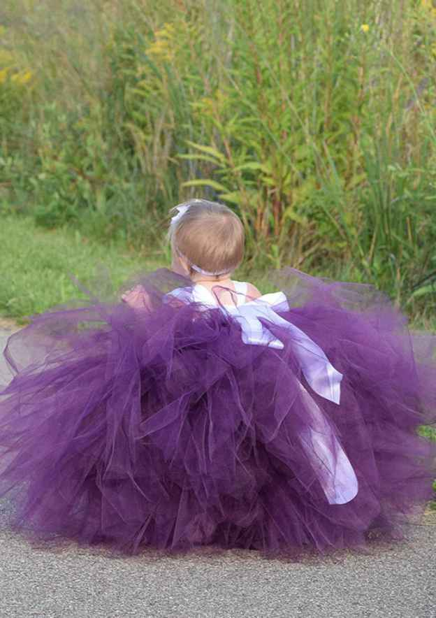 Ball Gown Square Neckline Sleeveless Long/Floor-Length Tulle Flower Girl Dress With Appliqued Bowknot