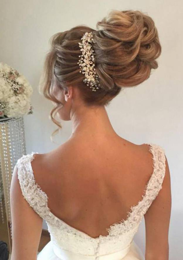 Ball Gown V Neck Sleeveless Long/Floor-Length Tulle Wedding Dress With Lace