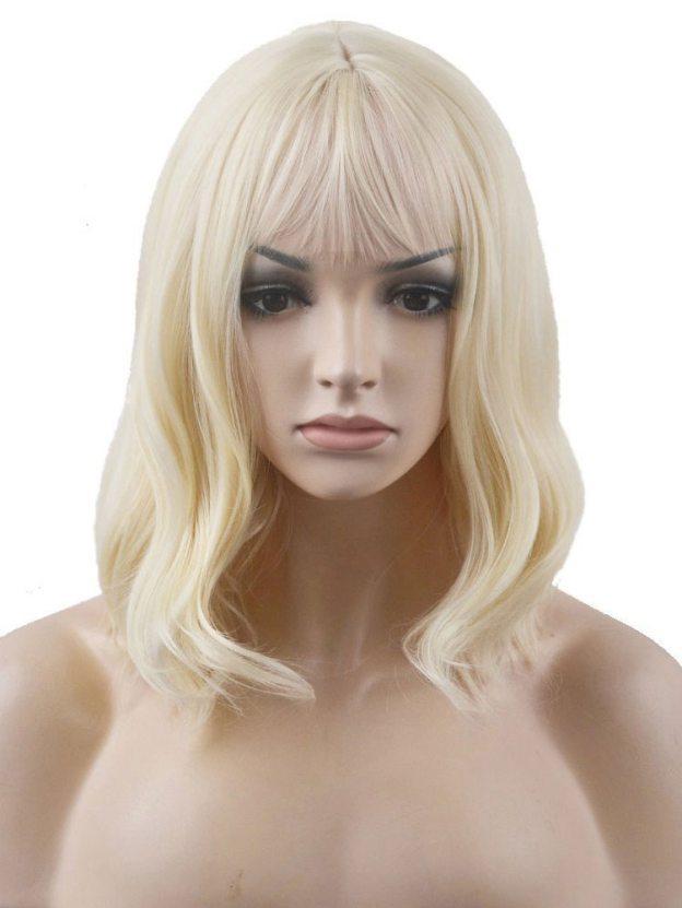 Medium Straight Capless 100% Remy Human Hair Wigs