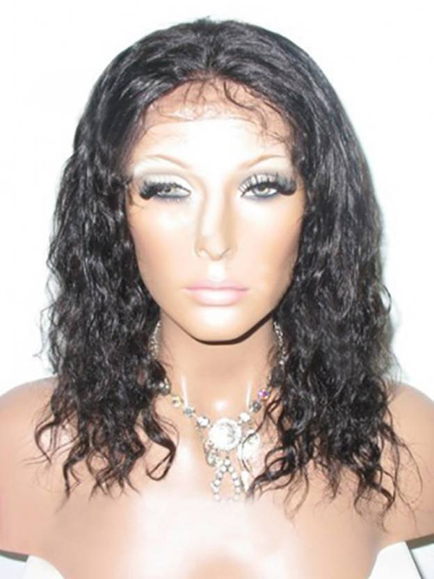 Medium Curly Lace Front 100% Remy Human Hair Wigs