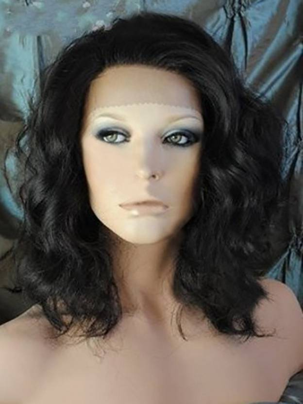 Medium Wavy Lace Front 100% Remy Human Hair Wigs