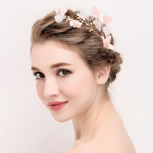 Alloy Ladies Hairpins With Rhinestone Flower