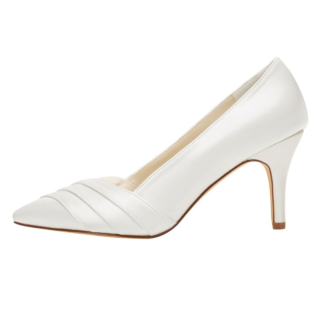 Close Toe Pumps Wedding Shoes Stiletto Heel Satin Wedding Shoes