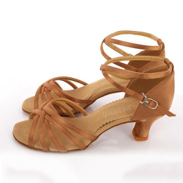 Sandals Dance Shoes Kitten Heel Suede Dance Shoes With Braided Strap