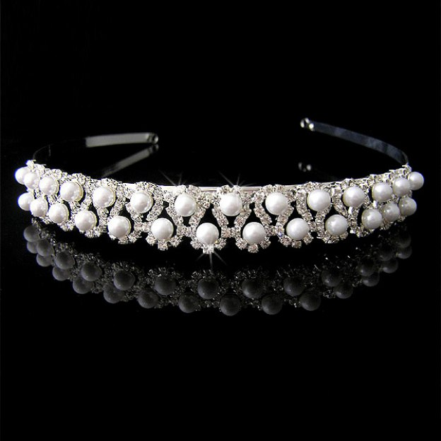 Alloy Ladies Headbands With Imitation Crystal Pearl