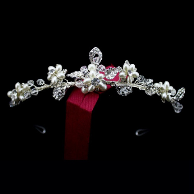 Alloy Ladies Headbands With Rhinestone Pearl