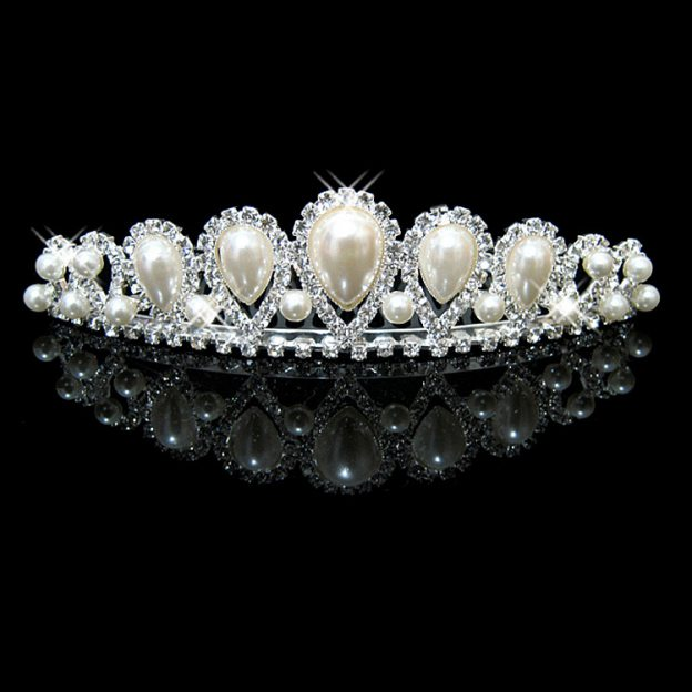 Alloy Ladies Combs & Barrettes With Imitation Crystal Pearl