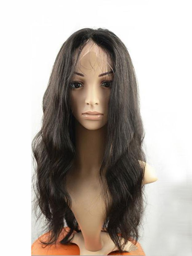 Long Wavy Lace Front 100% Remy Human Hair Wigs