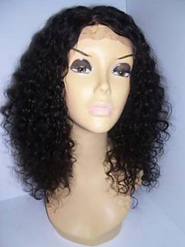 Long Curly Full Lace 100% Remy Human Hair Wigs