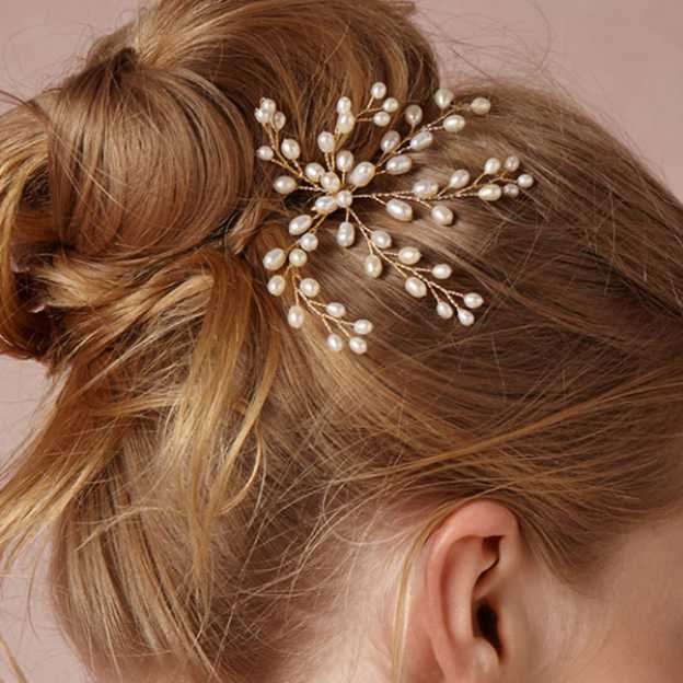Imitation Pearls Ladies Hairpins With Pearl