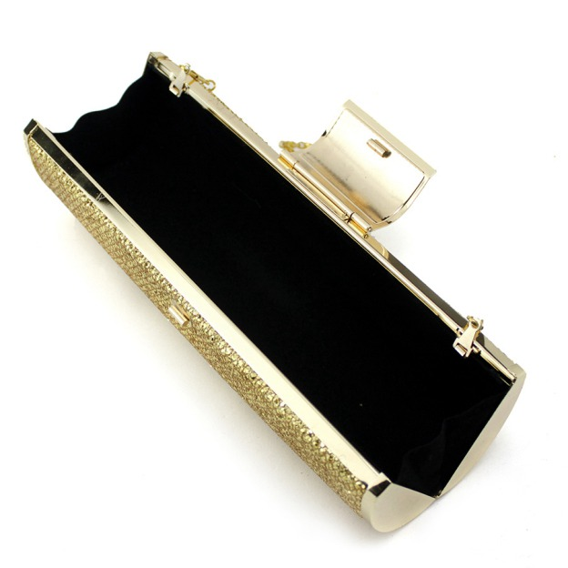 Metal Chain Clutches With Crystal/Rhinestone Glitter
