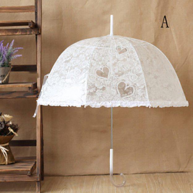 Pvc Women'S Hook Handle Wedding Umbrellas