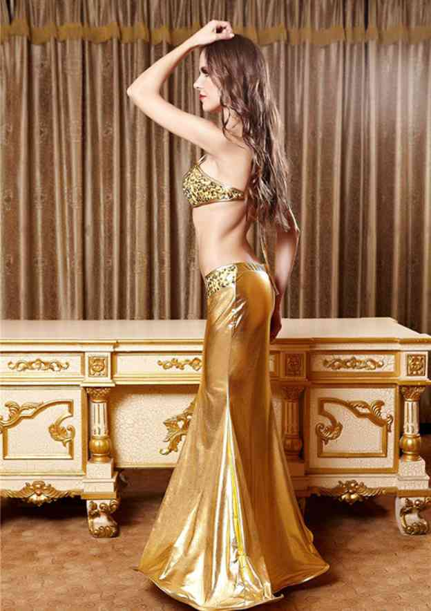 Polyester Female Sexy Costumes With Sequins