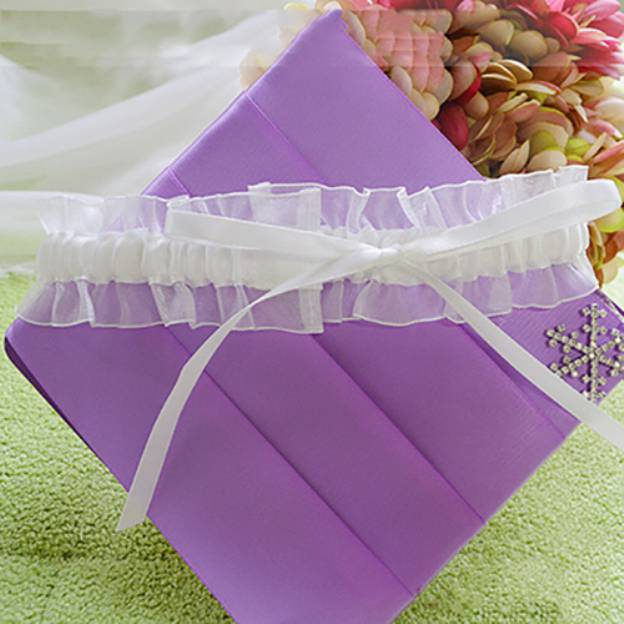 Satin Wedding Garter With Ribbon
