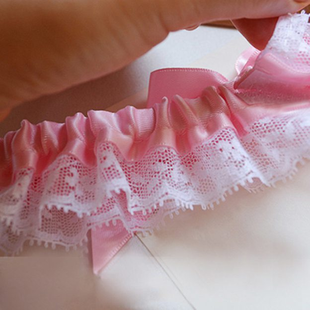 Satin Special Occasion Wedding Garter With Lace Bowknot