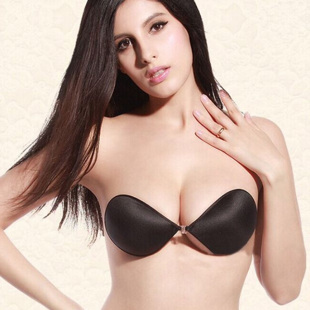 None 1/2 Cup Strapless Spandex Invisible Bras for Wedding Special Occasion Casual