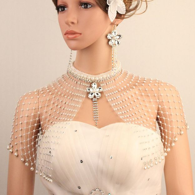 Basketwork Irregular Earclip Jewelry Sets With Imitation Pearls Rhinestones