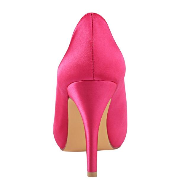 Peep Toe Platform Stiletto Heel Satin Wedding Shoes With Bowknot