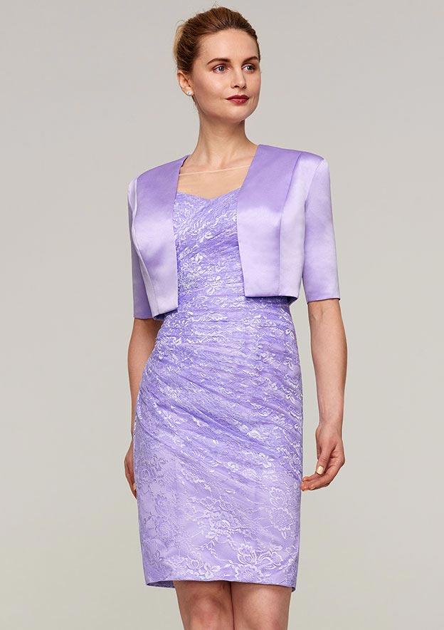 Half Sleeve Waist Length Satin Jackets & Wraps