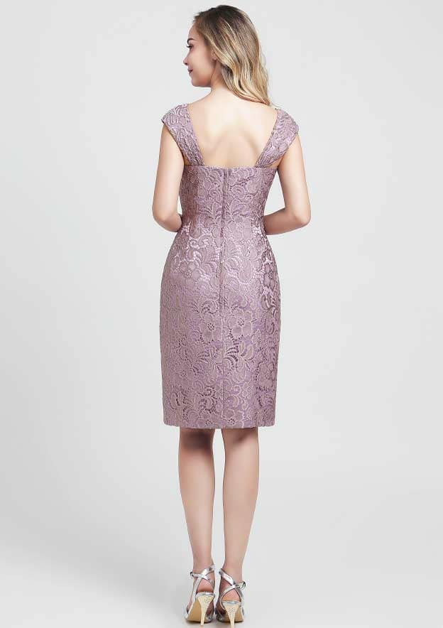 Sheath/Column Sweetheart Sleeveless Knee-Length Lace Mother of the Bride Dress With Jacket