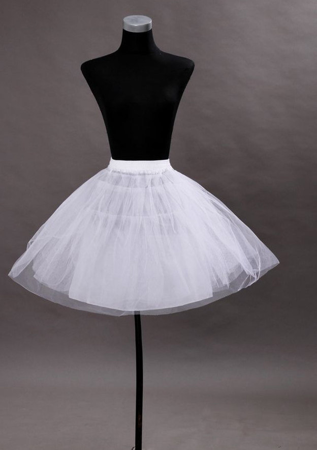 Girl Polyester Knee-length 3 Tiers Bridal Petticoats