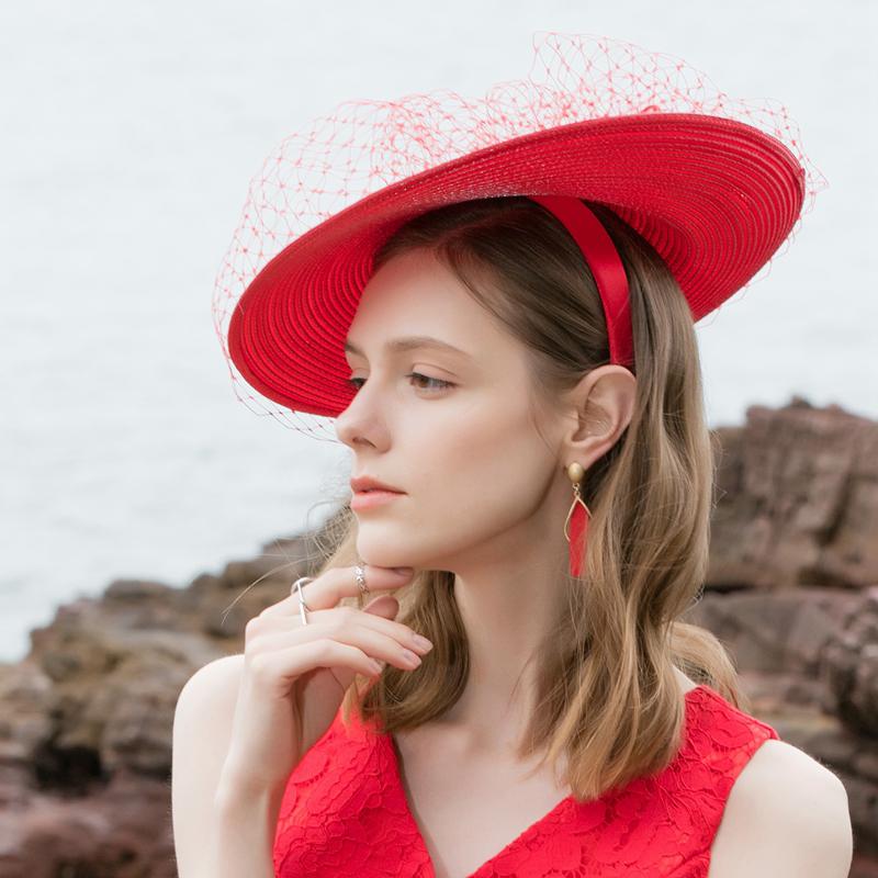 Ladies' Romantic/Charming Net Yarn Pp Fascinators/Tea Party Hats