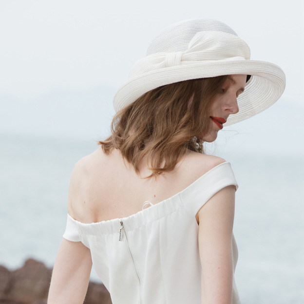 Ladies' Pretty/Classic/Glamourous Linen Beach/Sun Hats/Bowler/Cloche Hats With Bowknot