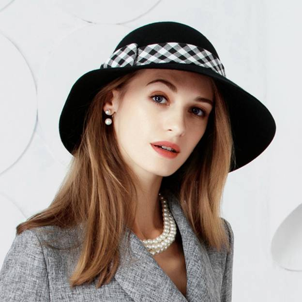 Ladies' Classic/Simple Wool Bowler/Cloche Hats/Tea Party Hats With Bowknot